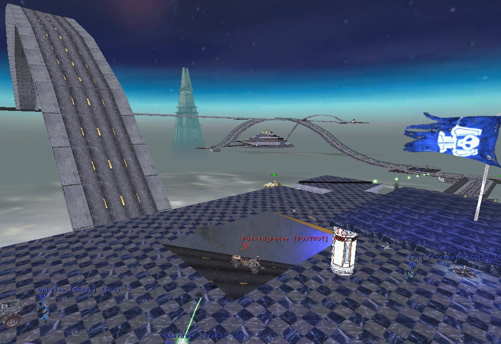 View from the Blue Base,    VCTF-EvilSkyCity